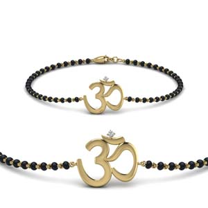 Om Single Chain Mangalsutra Bracelet
