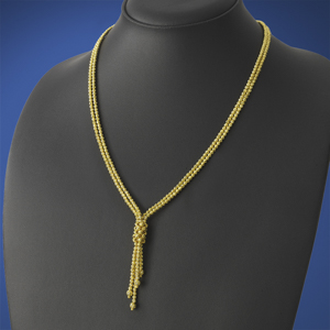 Double Gold Ball Lariat Chain