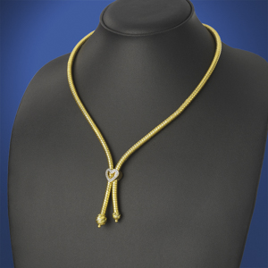 Heavy Lariat Gold Necklace Chain