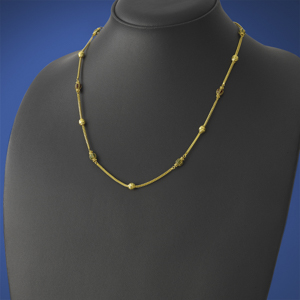 Gold Ball And Enamel Chain
