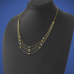 Layered Gold Ball Chain Necklace