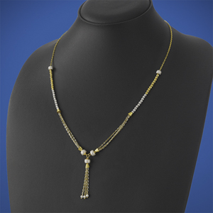 Fancy Gold lariat Ball Chain